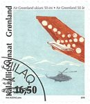 Groenland - Air Greenland '10 - Timbre obl.
