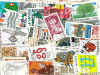 Danmark - 650 forskellige frimærker