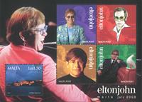 Malta - Elton John - Postfrisk miniark