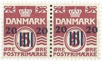 Færøerne - 20/5 øre - parstykke - Postfrisk