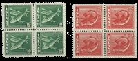 Island - 1938 2 postfriske 4-blokke