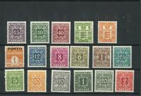 Danmark - 17 Porto & Gebyr mærker - postfrisk