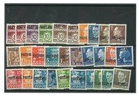 Danmark - 30 Postfærge mærker - postfrisk