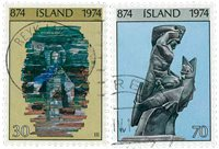 Island - AFA 488-489 - Stemplet