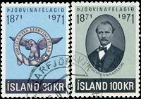 Island - AFA 456-457 - Stemplet
