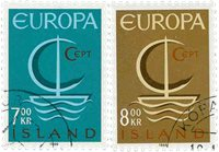 Island - AFA 405-406 - Stemplet