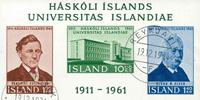 Island - AFA 357-359A - Stemplet miniark