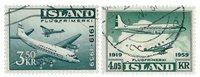 Islande - AFA 334-335 - Oblitéré