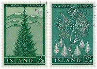 Islande - AFA 321-322 - Oblitéré