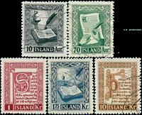 Island - AFA 288-292 - Stemplet