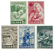 Island - AFA 255-259 - Stemplet